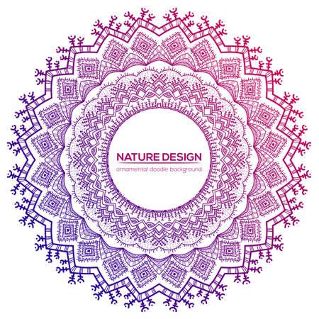 Tribal mandala design. Vintage decorative elements. Ornamental business cards. Oriental, vector illustration. nature motifs. Doodle ornaments.