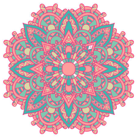 Mandala ornament. Vintage decorative elements. Hand drawn oriental background. Tribal motifs.