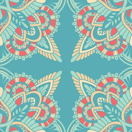 Mandala vector ornament. Vintage decorative elements. Hand drawn oriental background. Tribal motifs.