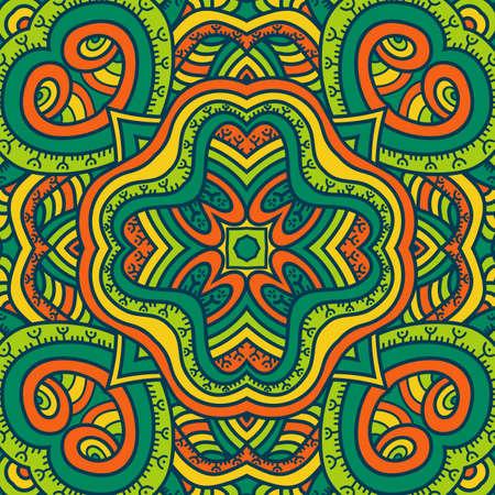 petal: Mandala vector ornament. Vintage decorative elements. Hand drawn oriental background. Tribal motifs.