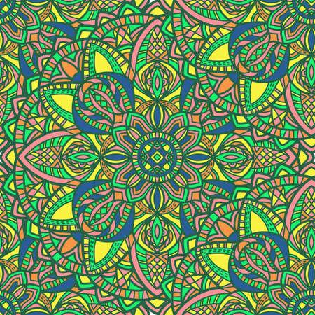 Tribal vector mandala. Vintage design for printing. Hand drawn background. Vektoros illusztráció