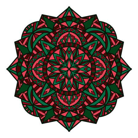 Tribal vector mandala. Vintage design for printing. Hand drawn background. 일러스트