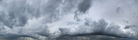 High resolution panorama of heavy, dark storm clouds usefull for sky replacement. Very dramatic and with a high degree of detail photo