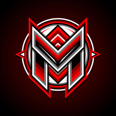 Letter M Mascot for Profile Picture, Gaming, Esports or Background