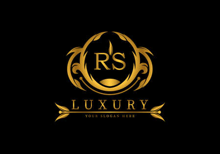 Initial RS Luxury Logo template vector for brand, company or fashion. Logó