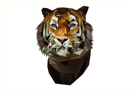 tiger lowpoly art