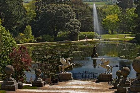 The lake at Powerscourt Gardens County Wicklow Ireland