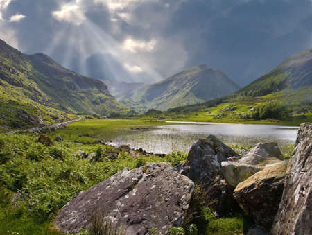 A storm brewing in Black Valley near Killarney Ireland. Stock Photo