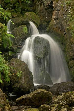 borrowdale: Lodore Falls Borrowdale, the Lake District, Cumbria England.