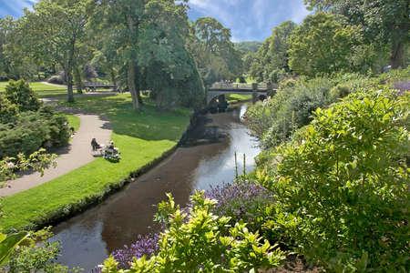 derbyshire: The park at Buxton, Derbyshire, England