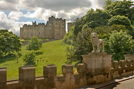 The 700 year old Alnwick Castle, Englands second largest inhabited castle, is in Northumbria.