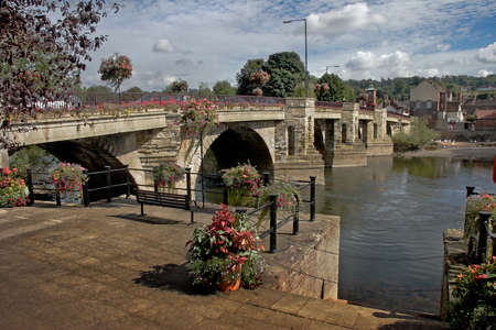 A bridge over the River Severn at Bridgnorth in Shropshire, England.