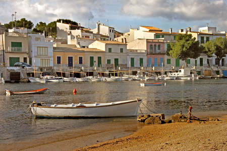 The harbour of Portocolom on the South East coast of Mallorca, Spain.