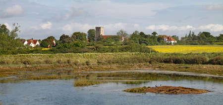 The village of Goldhanger near the coast of Essex, England,