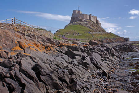 The 16century Lindesfarne castle on Holy Island in Northumberland, England.