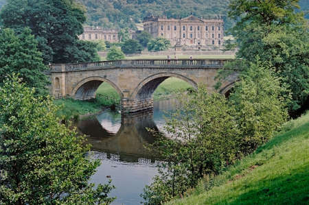 Chatsworth House in Derbyshire is one of Englands finest stately homes.