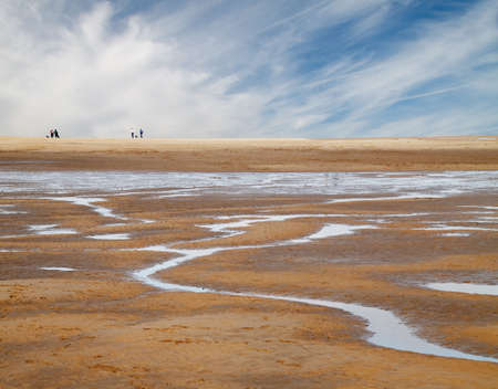 The extensive sands at Holkham bay in North Norfolk, England.
