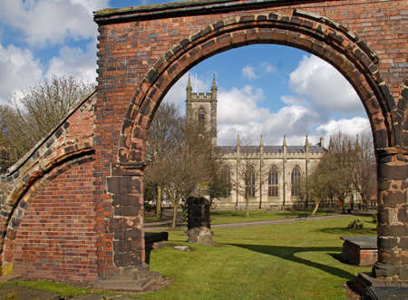 Stoke Minster in the city of Stoke on Trent, Staffordshire, England. Stock Photo