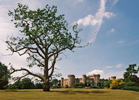 The castle at Chomondley in Cheshire England.