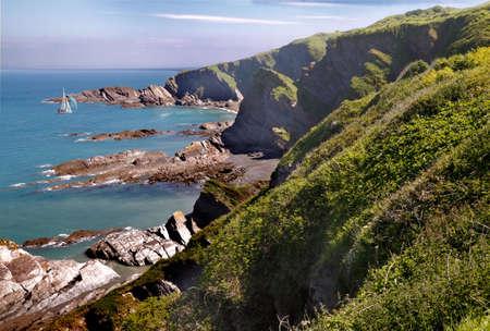 The coast near Ifracombe in Devon, England. Stock Photo