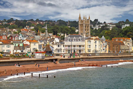 The seaside town of Teignmouth is in South Devon, England.