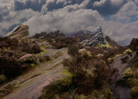 rugged terrain: The rugged terrain of the Staffordshire Moorlands in England.