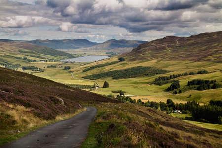 Glen Quaich and Loch Freuchie in Perth and Kinross, Scotland.