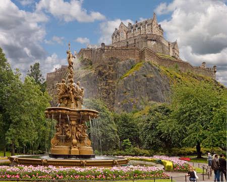 edinburgh: The Ross Fountain was made in Paris in 1862 and stands in the gardens below Edinburgh Castle in Scotland.