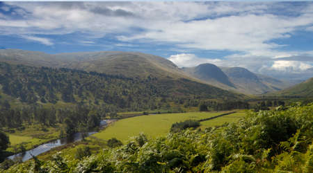 Glen Lyon is a valley in Perth and Kinross, Scotland. Stock Photo