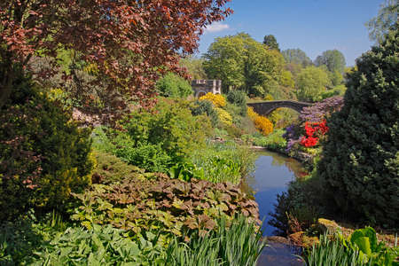 One of Englands finest gardens is situated in a valley in Staffordshire. Stock Photo