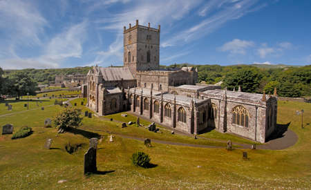 pembrokeshire: St Davids Cathedral in Pembrokeshire, Wales holds the tomb of Edmund Tuder the father of the first Tuder King of England and Wales.