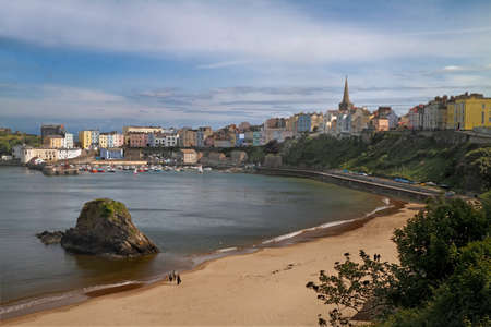 Tenby is an attractive seaside resort in South Wales, UK, with a harbour and two excellent beaches. Stock Photo - 11200294