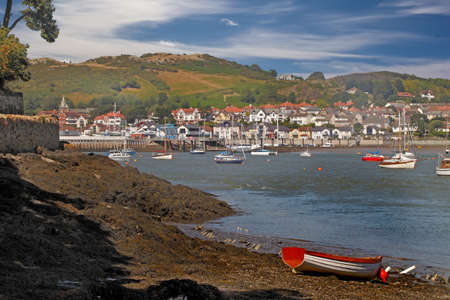 moorings: Deganwy is a small town on the Eastern side of the Conwy estuary.