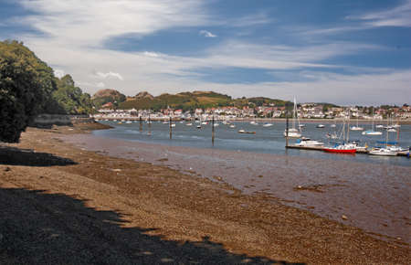 moorings: Deganwy is a small Welsh town situated on the Conwy estuary.