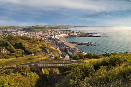 There are magnificent views from the top of Constitution Hill, near Aberystwyth in Wales, UK.