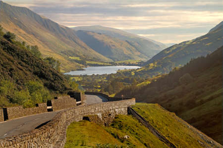 The Tal-y-llyn is a lake near the Southern end of the Snowdonia National Park.  Stock Photo