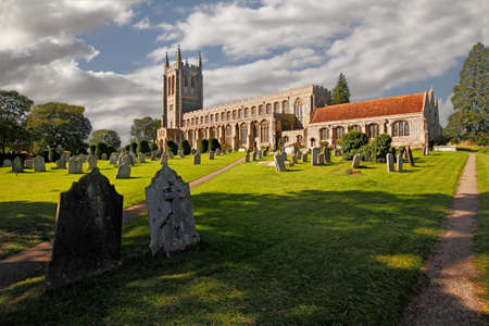 churchyard: The Holy Trinity church at Long Melford was built in the fifteenth century.