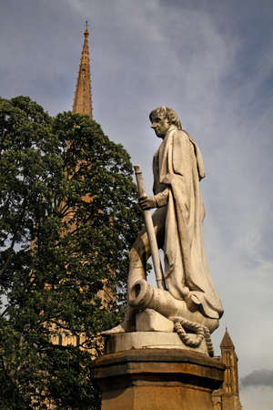 nelson: Horatio Nelson was one of Britains most heroic leaders. This statue stands near to Norwich Cathedral in his home county of Norfolk.