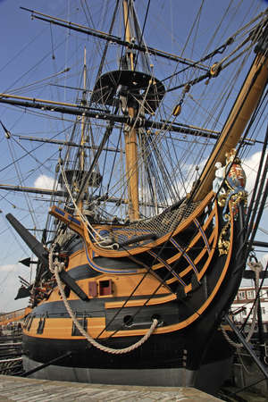 HMS Victory was Nelsons flagship at the battle of Trafalgar when the French were soundly defeated on 21st October 1805, but that was also the day of the Admirals death during the battle. Editorial