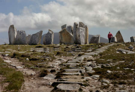 standing stones: There are many ancient stone circles like this one in the Republic of Ireland  This one is in the North West