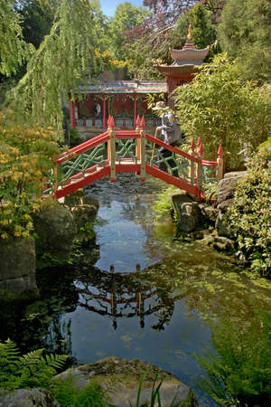 A Chinese inspired garden at Biddulph Grange in Staffordshire, England
