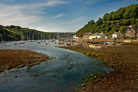 The estuary of the river Gwaun provides a harbour for small boats at Lower Fishguard in Pembokeshire, Wales