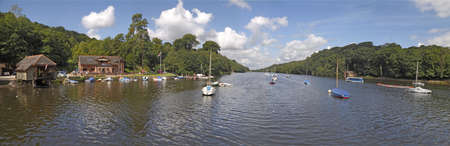 mersey: Rudyard Lake is a reservoir constructed to supply water for the Trent and Mersey canal system  Ruyard Kipling Stock Photo