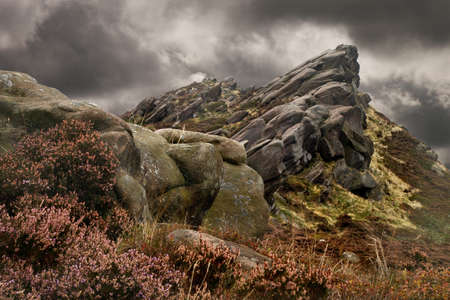 inhospitable: Ramshaw Rocks in Staffordshire, England marks the Southern end of the Pennines, and is part of the Peak Distrct National Park.