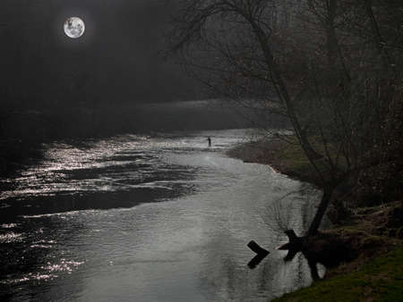 but think: Fishing in the darkness of night can be hazardous, but many anglers think that you can catch larger fish then