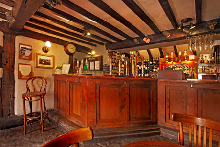 real ale: An old fashioned English public bar where often the finest real ale in the world can be consumed