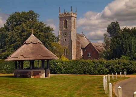 The village of Woodbastwick in Norfolk England is very attractive, some might say chocolate box pretty, and well worth a visit  Stock Photo