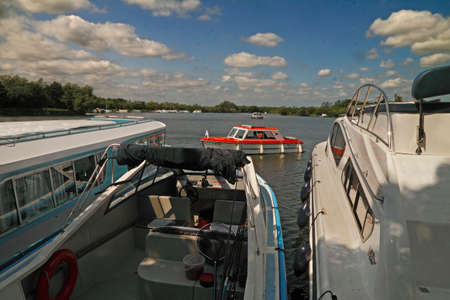 passtime: Here at Ranworth Broad in Norfolk, England, the major passtime is boating
