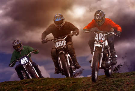 scrambling: Motorcycle scrambling or motocross takes place over rough terrain and includes steep inclines