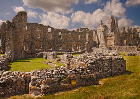 priory: Castle Acre Priory is now a large impressive ruin in the county of Norfolk, England